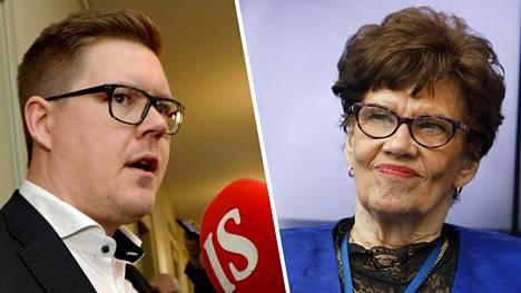 Antti Lindtman ja Sirkka-Liisa Anttila.