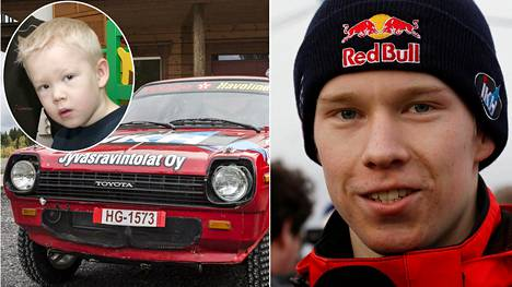 Kalle Rovanperä aloitti ajoharjoittelun todella nuorena. Rovanperä, 19, ylsi viikonloppuna historian nuorimpana kuljettajana palkintopallille rallin MM-sarjan pääluokassa.