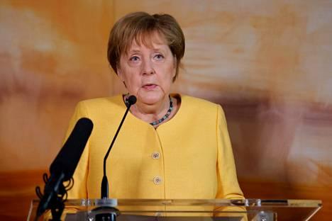 Saksan liittokansleri Angela Merkel kommentoi kotimaansa tulvia valtiovierailullaan Yhdysvalloissa torstaina.