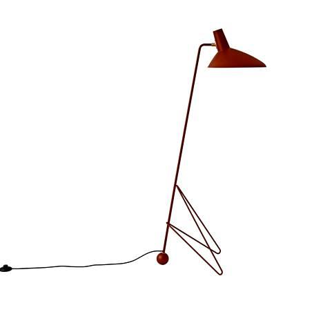 Minimalistisen Tripod Floor Lamp HM8 -lampun suunnittelivat 1953 Hvidt & Mølgaard. Tuotannossa se on kuitenkin vasta nyt ensi kertaa, &Tradition.