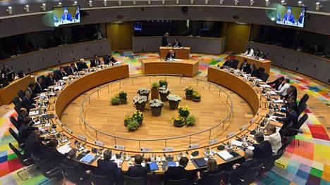 EU:n johtajat ovat kokoontuneet huippukokoukseen Brysselissä.