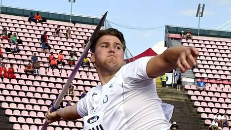 Suomen keihäslupaus jäi kuudenneksi Tampereen MM-kilpailuissa
