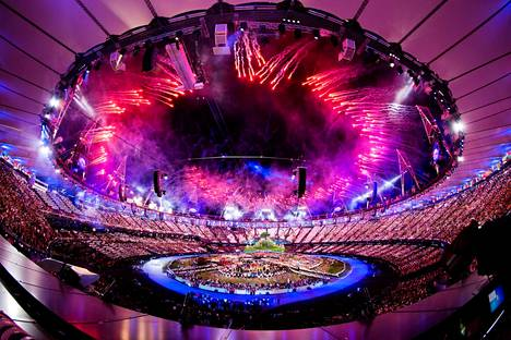 Vuoden 2012 Lontoon kesäolympialaisten avajaiset.