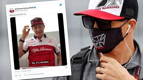 Räikkönen ja Giovinazzi hauskuuttivat Alfa Romeon Twitter-seuraajia.