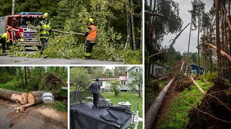 Aila-myrskyn tuhot saattavat kokonaisuudessaan selvitä vasta ensi viikolla, vakuutusyhtiöistä arvioidaan.