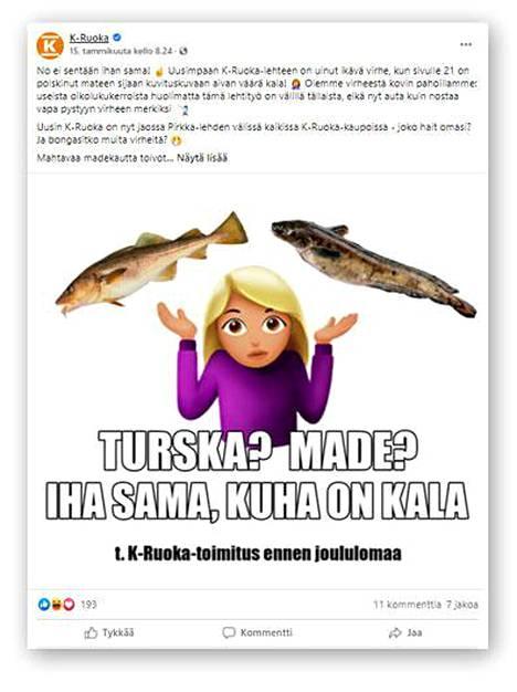 K-Ruoka julkaisi Facebook-sivuillaan pahoittelut virheestä.