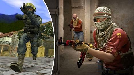 Suomalaiset ovat menestyneet kaikissa Counter-Striken versioissa. Vasemmalla legendaarinen CS 1.6 ja oikealla nykyisin pelattava CS:GO.