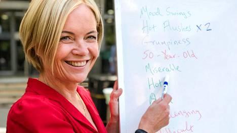 Toimittaja Mariella Frostrup selvittää, millaisia helpotuksia nykylääketiede tarjoaa vaihdevuosioireisiin.