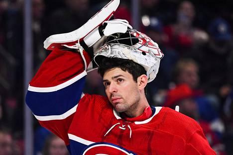 Montrealin luottoveska Carey Price palasi joukkueensa kotikaupunkiin harjoitusleiriä varten. Kuva helmikuulta.