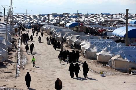 Tältä näytti al-Holin leirillä huhtikuun alussa.