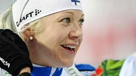 Kaisa Mäkäräinen osoitti olevansa lupaavassa kunnossa. Mäkäräinen ja Mari Eder onnistuivat loistavasti sunnuntain sekaviestissä.
