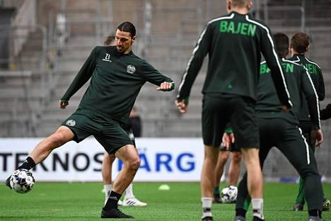 Zlatan harjoitteli Hammarbyn riveissä 17. huhtikuuta.