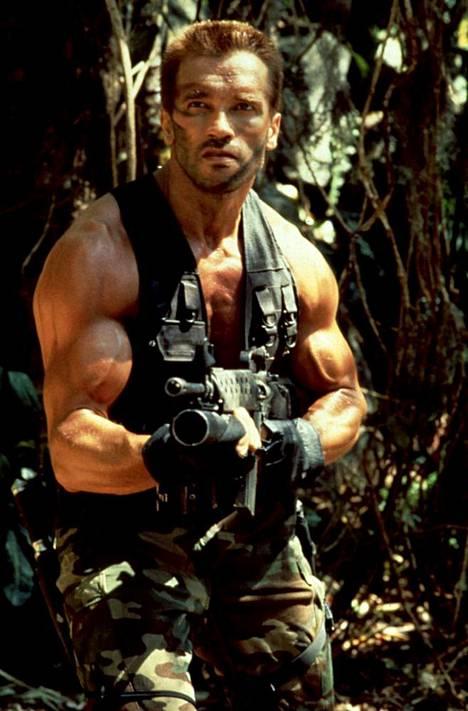 Arnold Schwarzenegger Predator – Saalistaja -elokuvassa vuonna 1987.