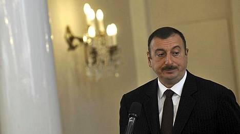 Presidentti Ilham Alijev.