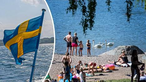 Etelä-Tanskan alue lähetti kaikille 25 000 työntekijälleen kirjeen, jossa heitä kehotetaan olemaan matkustamatta kesälomareissuillaan Ruotsiin. Rantakuva Tukholmasta.