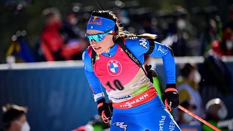 Dorothea Wierer sijoittui äskettäin päättyneissä ampumahiihdon MM-kisoissa henkilökohtaisilla matkoilla parhaimmillaan neljänneksi.