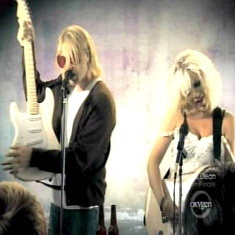 Kurt Cobain ja Courtney Love.