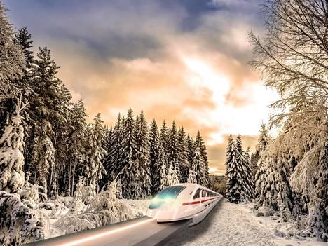 Rovaniemen kaupunkia, lentokenttää ja alueen eri osia yhdistää yksiraiteinen juna. Myös poroilla ja koirilla voisi liikkua, sillä valtio on autoton.