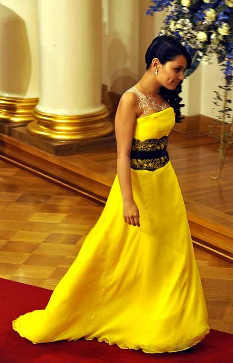 Joulukuussa 2008 Abreu ihastutti itsenäisyyspäivän vastaanotolla keltaisessa iltapuvussaan.