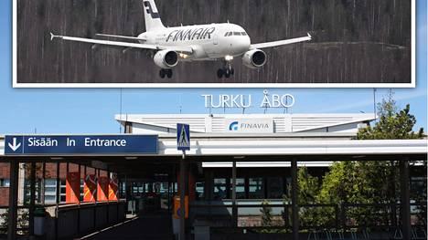 Finnairin lento Helsingistä Pariisiin keskeytyi yllättäen maanantaiaamuna kuolemantapauksen vuoksi, ja kone joutui laskeutumaan Turkuun. Arkistokuva.
