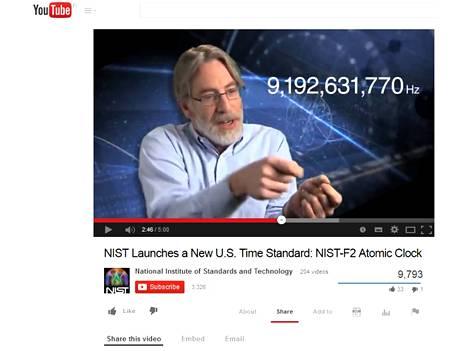 Tutkija Steven Jefferts sanoo, että sekunti saadaan, kun lasketaan cecium-atomin 9192631770 värähtelyä.