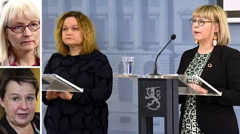 Päivi Sillanaukee (ylh.vas,), Kirsi Varhila (alh.vas.), Krista Kiuru ja Aino-Kaisa Pekonen.