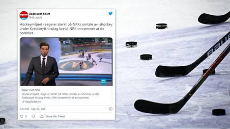 NRK:n uutislähetyksessä ollut jääkiekkojuttu kuumensi tunteita.