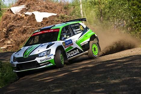 Kalle Rovanperä on ollut WRC2-luokan nopein kuudella päivän kahdeksasta ek:sta.