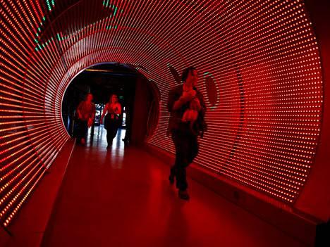Tunneli Zyngan pääkonttorissa San Franciscossa.