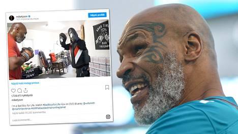 Mike Tysonin näytti Instagram-videollaan osoituksen hurjasta kunnostaan.