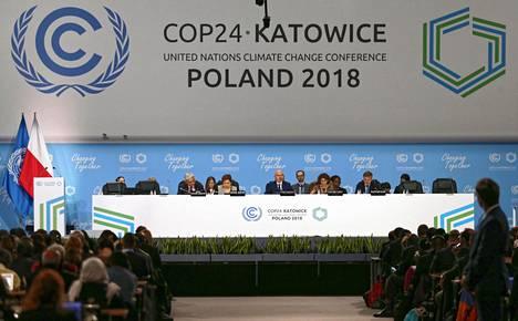Michal Kurtyka avasi COP24-ilmastokokouksen Katowicessa 2. joulukuuta 2018.