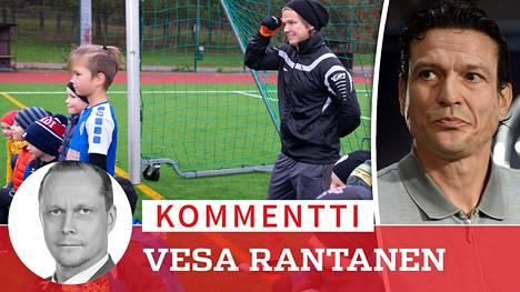 Petteri Forsell ilmaantui yhtäkkiä Nurmijärvelle pikkufutaajien treeneihin. Jari Litmanen (oik.) kävi sen sijaan Qatarissa kehumassa maan jalkapallo-olosuhteet.