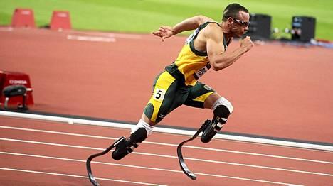 Pikajuoksija Oscar Pistorius osallistui Lontoon olympialaisissa 2012 miesten 400 metrin kilpailuun.