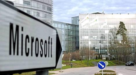 Microsoft-kyltit opastavat nykyisin Nokian ex-pääkonttorille.