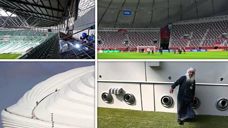 Rakennustyöt useilla Qatarin MM-kisojen stadioneilla ovat yhä kesken.