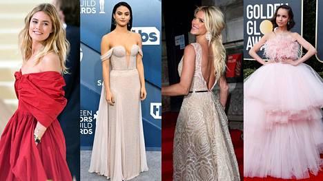 Trendikkäissä tyyleissä vanhojen tansseissa 2020 näkyvät muun muassa nuden ja samppanjan värit, runsaat tyllihelmat ja avoimet selät. Näppärä ja muodikas lisäys mekkoihin piilottaa puolestaan tanssijoiden puhelimet.