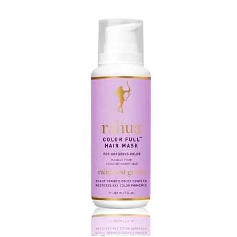 Rahua Color Full Hair Mask -naamio tehokosteuttaa hiuksia ja taittaa vaalennetuista hiuksista pois keltaisen sävyt, 76 € / 200 ml.