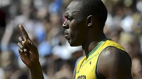 Usain Bolt on kunnossa.