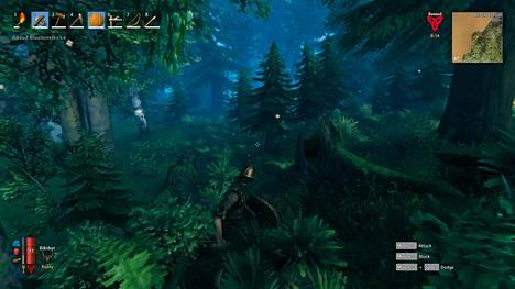 Etenkin Valheimin metsät on toteutettu hienosti kasveineen ja korkeuseroineen.