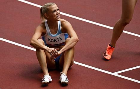 Annimari Korte taisteli olympialaisten alkuerissä kipeällä takareidellä, joka on vaivannut jo pidempään.