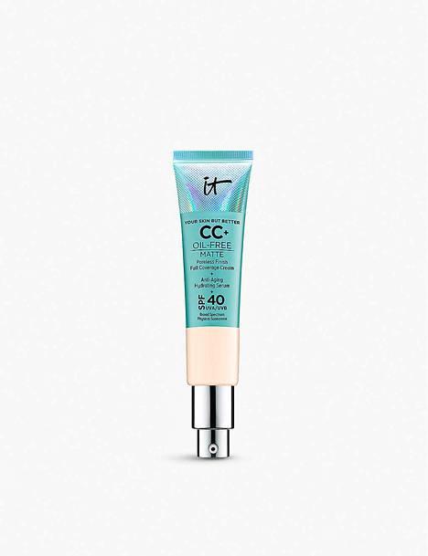IT Cosmetics Your Skin But Better CC+ Oil-Free Matte SPF 40 -meikkivoide, 39,50 € / 30 ml.