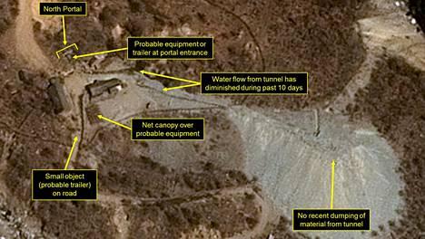 Pohjois-Korean on arveltu suunnittelevan ohjus- tai ydinkoetta lauantaille. Kuvassa Punggye-rin testialue Pohjois-Koreassa.