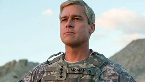 Brad Pitt näyttelee tuottamassaan sotasatiirissa Naton joukkoja Afganistanissa komentavaa kenraalia, jonka suunnitelmat eivät etene.