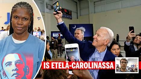 Usko Joe Bideniin oli vahvaa perjantaina Sumterissa Etelä-Carolinassa.