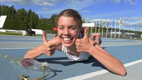 Taika Nummi iloitsi kisavoitosta, omasta ennätyksestä ja SE-ajasta.