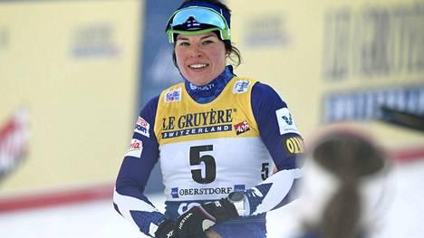 Krista Pärmäkoski on kerännyt suomalaishiihtäjistä eniten palkintorahaa tällä kaudella.
