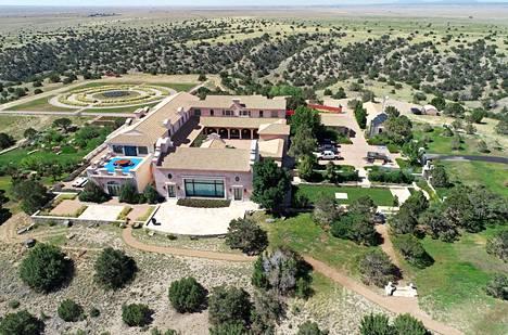 Jeffrey Epsteinin talo New Mexicossa.