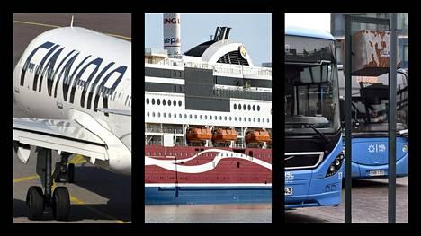 Maanantaina alkava tukilakko vaikuttaa laajasti lentoihin, laivamatkoihin ja pääkaupunkiseudun bussiliikenteeseen.