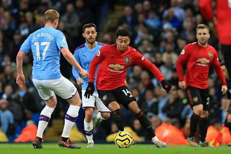 Jesse Lingardin Manchester United löi Manchester Cityn