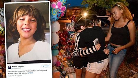 10-vuotiaan tytön surma on järkyttänyt Yhdysvalloissa.
